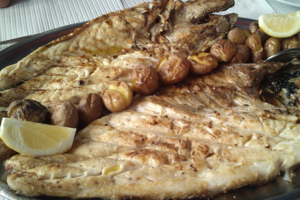 Grilled fish near Ericeira